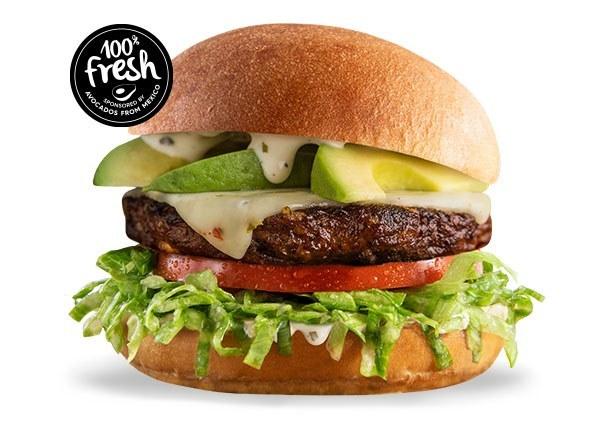 Avocado Ranch Black Bean Burger