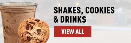 Menu Shakes Cookies Drinks