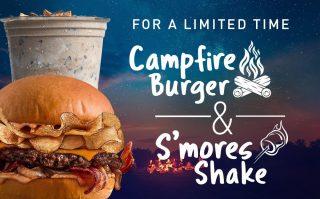 Campfire Burger & S'mores Shake