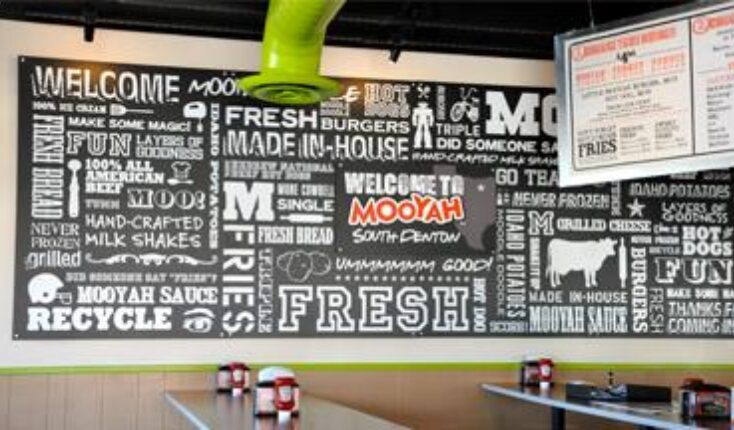 Best burgers in Denton Texas MOOYAH restaurant interior