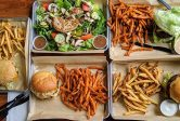 MOOYAH Burger Fries Salad Best Burger