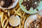 MOOYAH hand cut fries real ice cream shakes
