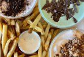 MOOYAH hand cut fries real ice cream shakes