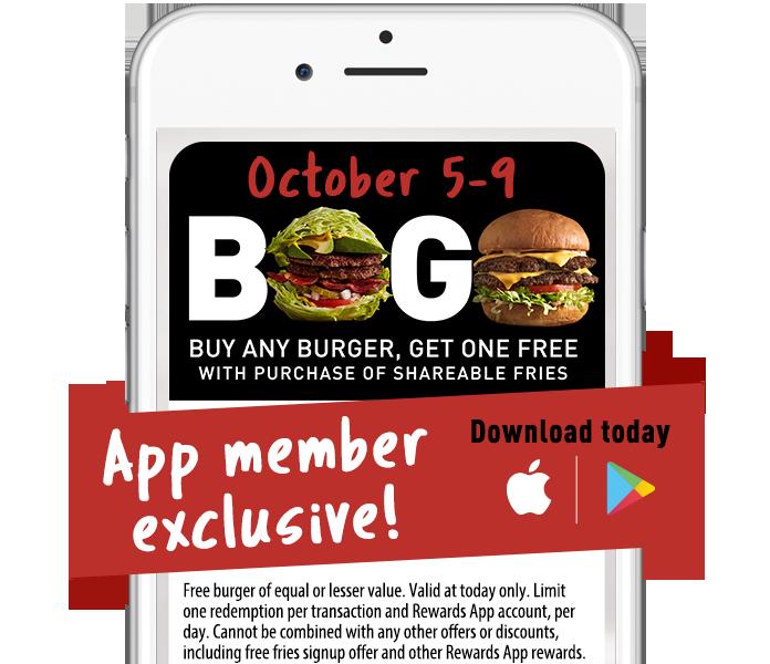 BOGO Burger Week Get the Deal App Only
