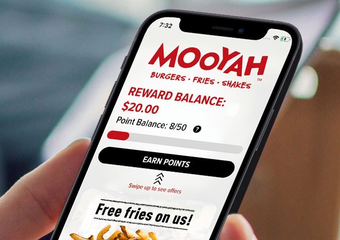 Download the MOOYAH Rewards App today